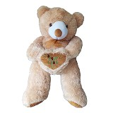 RAJA BONEKA Beruang Love Besar [RB740] - Light Brown - Boneka Binatang